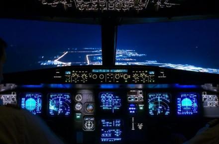 Aviones Airbus, Aterrizaje de noche