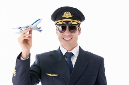 Uniformes de los pilotos de aerolíneas, transbordador