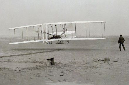 El primer vuelo en avión