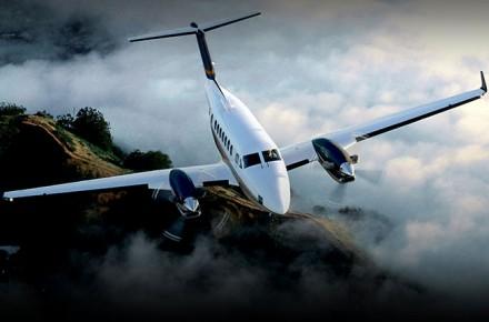 Beechcraft King Air, King Air despegando