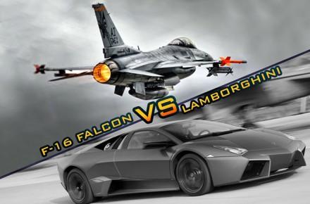F-16 VS Lamborghini