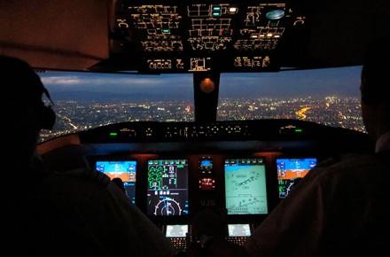 Aproximación y aterrizaje de noche