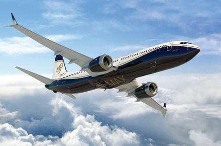 BBJ MAX 9 ventanillas de aviones