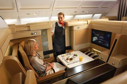 Airbus A380 de Etihad Airways clase ejecutiva en los aviones